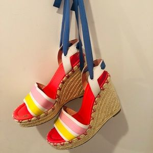 Kate Spade Lace Up Espadrille Wedges